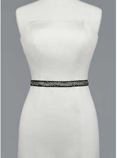 Simple Satin Sash With Beading