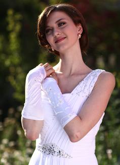 Satén Codo Largo Guantes de novia