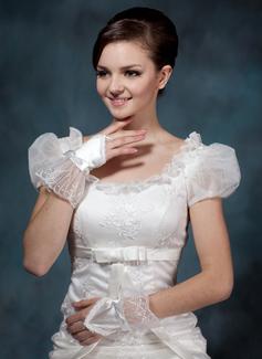 Satin Wrist Length Bridal Gloves/Flower Girl Gloves