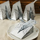 Blume Design Geschenkboxen mit Bänder (Satz von 12)