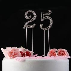 Brillantes Piedras Número Cromo Aniversario Decoración de tortas