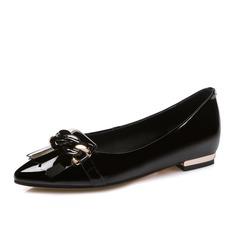Femmes Vrai cuir Talon plat Chaussures plates Bout fermé chaussures