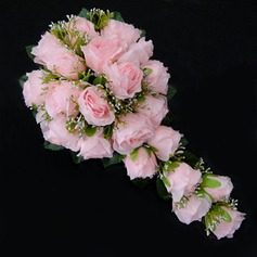 Fascinating Cascade Satin Bridesmaid Bouquets -