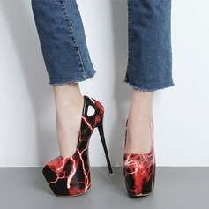 Women's Leatherette Stiletto Heel Pumps Closed Toe With Animal Print shoes