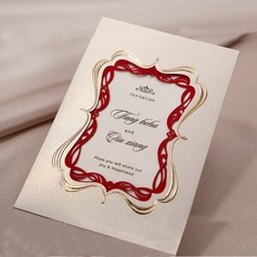 Personlig Tappning Färg Wrap & Pocket Invitation Cards (Sats om 50)