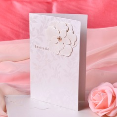 Blommig Stil Side Vik Invitation Cards (Sats om 50)