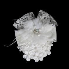 Schöne Perle Spitze Blumen Haarschmuck