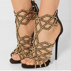 Women's Satin Suede Stiletto Heel Pumps Sandals With Rhinestone Sparkling Glitter Others