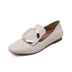 De mujer Cuero Tacón bajo Planos Cerrados zapatos