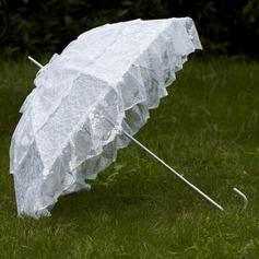 Noble Terylene/Lace Wedding Umbrellas With Appliques