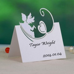 Angel and Heart Pearl Paper Place Cards (set of 12)
