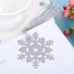 Snowflake Stainless Steel Bookmarks With Tassel