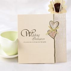 Hjärta stil Z-vikning Invitation Cards (Sats om 50)