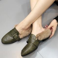 De mujer Cuero Tacón plano Planos Cerrados con Hebilla Piel zapatos