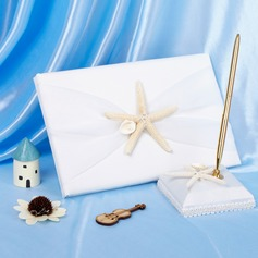Starfish and Seashell Guestbook & Pen Set