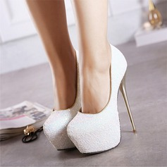 Women's Sparkling Glitter Stiletto Heel Pumps Platform Closed Toe shoes
