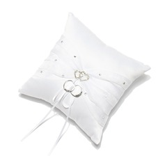 Ring Pillow in Satin With Rhinestones