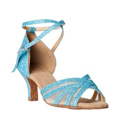 Women's Sparkling Glitter Sandals Latin Dance Shoes