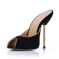 Suede Stiletto Heel Sandals Slippers shoes
