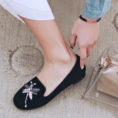 De mujer Ante Tacón plano Planos con Rhinestone zapatos