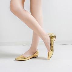 De mujer Cuero Tacón plano Planos con Estampado de animales Tacones con joya zapatos